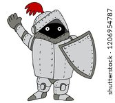 an image of a short knight... | Shutterstock .eps vector #1206954787
