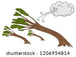 an image of a powerful trees... | Shutterstock .eps vector #1206954814