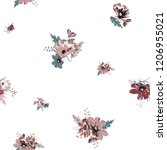 seamless floral with small... | Shutterstock .eps vector #1206955021