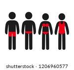 simple stick figure people... | Shutterstock .eps vector #1206960577
