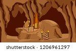 underground cave landscape....   Shutterstock .eps vector #1206961297