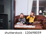 sweets and tv | Shutterstock . vector #120698059