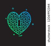 hearts icon design vector | Shutterstock .eps vector #1206992344
