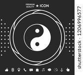 yin yang symbol of harmony and... | Shutterstock .eps vector #1206996577
