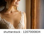 wedding. portrait of beautiful... | Shutterstock . vector #1207000834