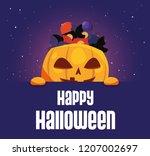 sweet happy halloween   Shutterstock .eps vector #1207002697