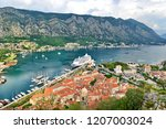 view to kotor bay  montenegro   Shutterstock . vector #1207003024