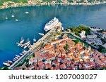 view to kotor bay  montenegro   Shutterstock . vector #1207003027