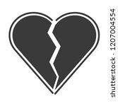 flat icon heartbreak. broken... | Shutterstock .eps vector #1207004554