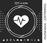 heart with ecg wave  ... | Shutterstock .eps vector #1207005031