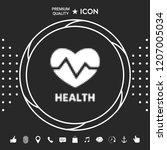 heart symbol   halftone logo. | Shutterstock .eps vector #1207005034