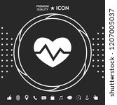 heart medical icon | Shutterstock .eps vector #1207005037