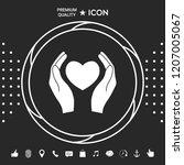 hands holding heart symbol | Shutterstock .eps vector #1207005067