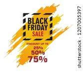 black friday sale label ... | Shutterstock .eps vector #1207005397