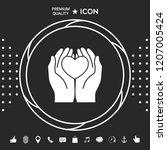 hands holding heart  ... | Shutterstock .eps vector #1207005424