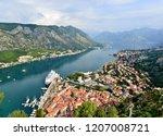 view to kotor bay  montenegro   Shutterstock . vector #1207008721