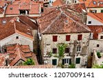 roofs in kotor old town ...   Shutterstock . vector #1207009141