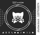 cute cat  paws   logo  symbol ... | Shutterstock .eps vector #1207010074