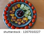 fresh  colorful raw vegetable... | Shutterstock . vector #1207010227