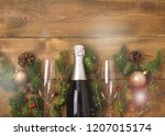 new years christmas celebration ... | Shutterstock . vector #1207015174