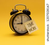 time to work 9 00 | Shutterstock . vector #1207028167