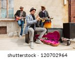 band of blues musicians | Shutterstock . vector #120702964