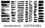 set of different ink paint... | Shutterstock .eps vector #1207031881