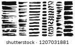 set of different ink paint... | Shutterstock .eps vector #1207031881