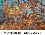 steel tank rust background.... | Shutterstock . vector #1207036684