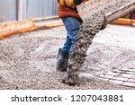 closeup shot of concrete... | Shutterstock . vector #1207043881