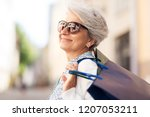sale  consumerism and people... | Shutterstock . vector #1207053211