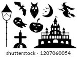 collection of halloween icon...   Shutterstock .eps vector #1207060054