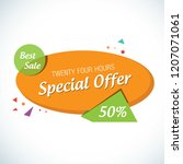 special offer banner with... | Shutterstock .eps vector #1207071061