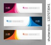 vector abstract banner design... | Shutterstock .eps vector #1207073041