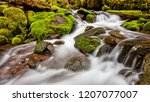 a small cascade flowing near... | Shutterstock . vector #1207077007