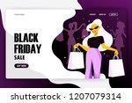 black friday web banner....   Shutterstock .eps vector #1207079314
