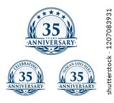 35 years anniversary set. 35th... | Shutterstock .eps vector #1207083931