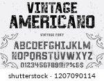 vector illustration font script ... | Shutterstock .eps vector #1207090114
