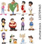group of cute happy cartoon... | Shutterstock .eps vector #120709465