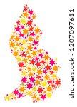map of liechtenstein designed... | Shutterstock .eps vector #1207097611