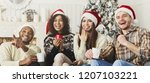christmas comedy show. happy... | Shutterstock . vector #1207103221