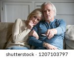 sensitive elderly couple relax... | Shutterstock . vector #1207103797
