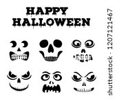 collection of halloween... | Shutterstock .eps vector #1207121467