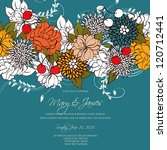 wedding card or invitation with ... | Shutterstock .eps vector #120712441