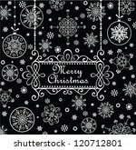 christmas greeting card  black...