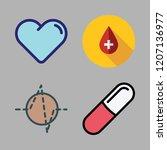disease icon set. vector set... | Shutterstock .eps vector #1207136977