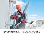 service worker installing and... | Shutterstock . vector #1207140457