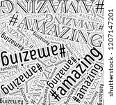 amazing words collage... | Shutterstock . vector #1207147201