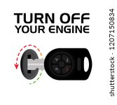 turn off your engine. switch... | Shutterstock .eps vector #1207150834