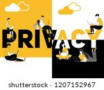 creative word concept privacy... | Shutterstock .eps vector #1207152967
